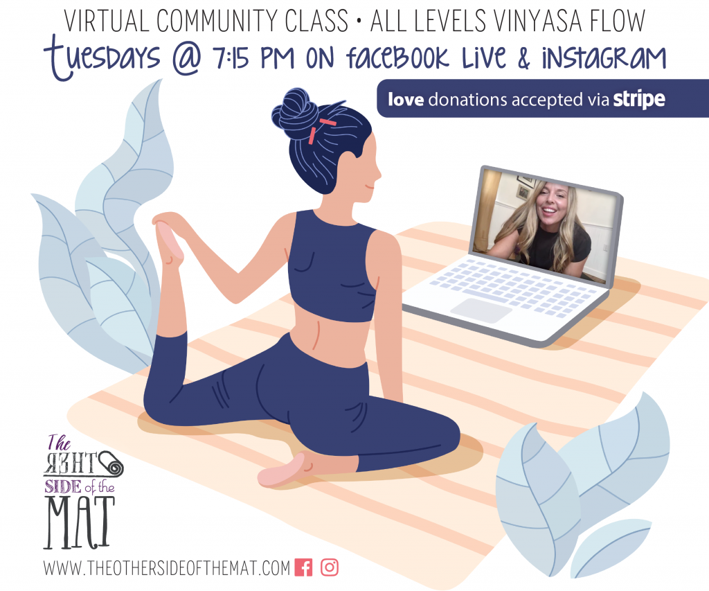 Tuesday Virtual Yoga class FREE